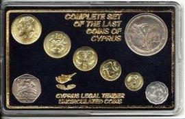 Набор монет Кипра в буклете