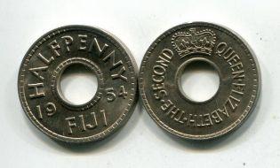1 пенни 1936 год Фиджи