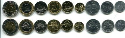 Набор монет Литвы