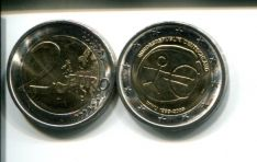 2 евро 2009 год (10 лет евро) Германия