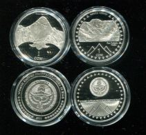 Набор монет Кыргызстана (Киргизии) по 1 сому 2011 год