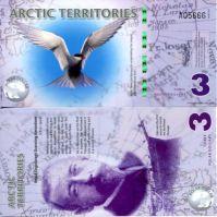 3 доллара 2011 год Арктические территории