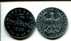 3 марки 1922 год Германия (Веймар)