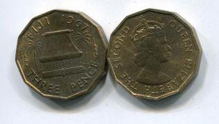 3 пенса 1967 год (Елизавета II) Фиджи