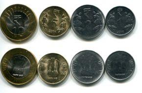 Набор монет Индии 2011 год