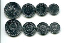 Набор монет Северной Кореи (другой тип, без звёзд)