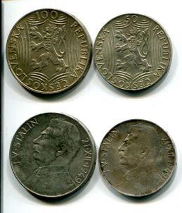 50 и 100 крон 1949 год (Сталин) Чехословакия