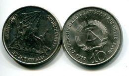 10 марок 1972 год (Бухенвальд) Германия (ГДР)