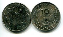 10 марок 1990 год (100 лет первомаю) Германия (ГДР)