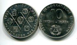 10 марок 1975 год (20 лет Варшавского договора) Германия (ГДР)