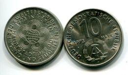10 марок 1973 год (фестиваль в Берлине) Германия (ГДР)