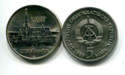 5 марок 1989 год (церковь Марии) Германия (ГДР)