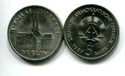 5 марок 1987 год (церковь Николая) Германия (ГДР)