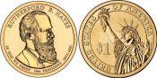 1 доллар 2011 год (Ратерфорд Хейз 19-й президент) США