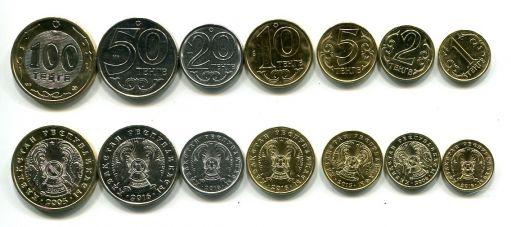Набор монет Казахстана (регулярный выпуск)