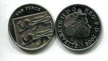 10 пенсов 2008 год Великобритания