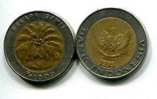 1000 рупий 1997 год (биметалл) Индонезия