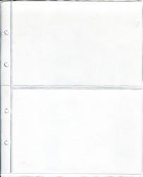 """Лист для бон на 2 ячейки в альбом формата """"Optima"""""""