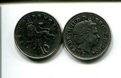 10 пенсов (года разные) Великобритания