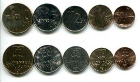 Набор монет Словакии