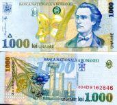 1000 лей 1998 год Румыния