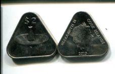 2 доллара 2010 год Остров Кука