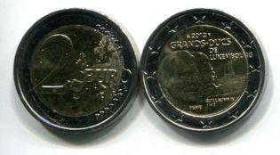 2 евро 2012 год Люксембург