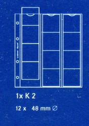 Лист в альбом Karat (а так же в альбом формата Numis) для монет на 12 ячеек