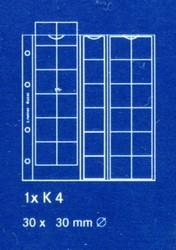 Лист в альбом Karat (а так же в альбом формата Numis) для монет на 30 ячеек