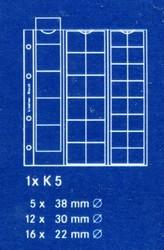 Лист в альбом Karat (а так же в альбом формата Numis) для монет на 33 ячееки комбинированный