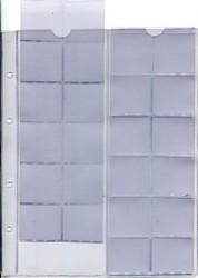 """Лист для монет на 24 ячейки в альбом формата """"Optima"""""""
