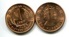 1 цент 1965 год Восточные Карибские территории