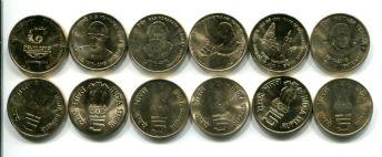 Набор монет Индии 2010-2011 год