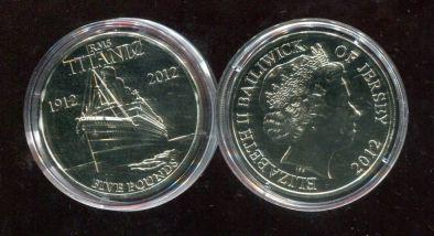 5 фунтов 2012 год (Титаник) Джерси