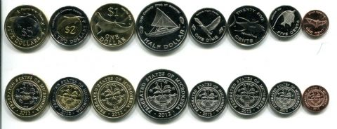 Набор монет Микронезии 2012 год