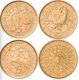5 евро Весы, Скорпион, Стрелец Сан-Марино 2020 год