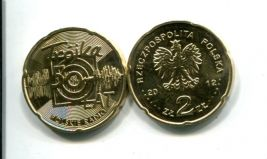2 злотых 2012 Польша 50 лет радио Тройка (Trojka)