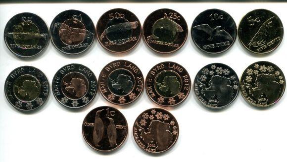 Набор монет Мэри Бэрд Ленд 2012 год