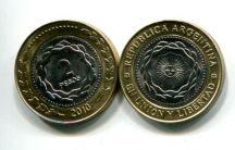 2 песо 2010 год Аргентина (биметалл)
