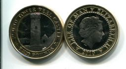 2 фунта 2010 год Остров Мэн