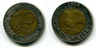 10 марок 1993 год Финляндия
