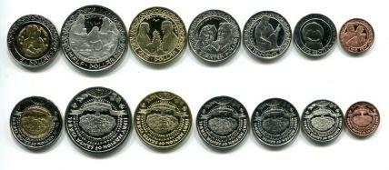 Набор монет Индейские штаты 2012 год Санта Изабель