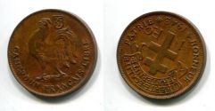 1 франк 1943 год (петух) Камерун
