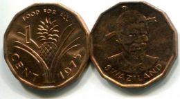 1 цент 1975 год Свазиленд