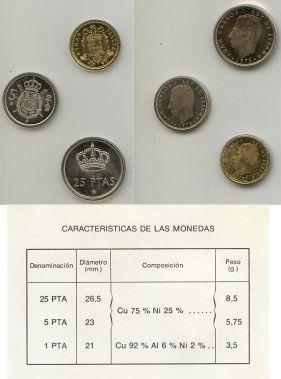 Набор монет Испании 1977 год (официальный выпуск)