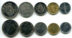 Набор монет Испании 1975 год