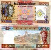 1000 франков (50 лет банку) Гвинея