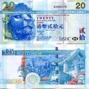20 долларов 2007 год Гон-Конг