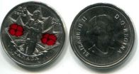 25 центов 2010 год (65 лет Победы) цветная Канада