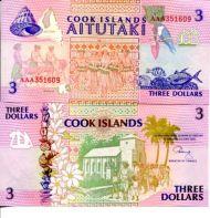 3 доллара 1992 год Остров Кука